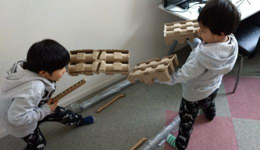 子供と一緒に「自由研究研究所」の机を組み立てました!